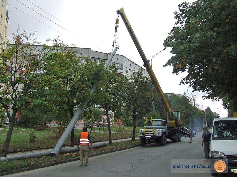 Будівництво тролейбусної лінії на «Східному» масиві триває (фото)