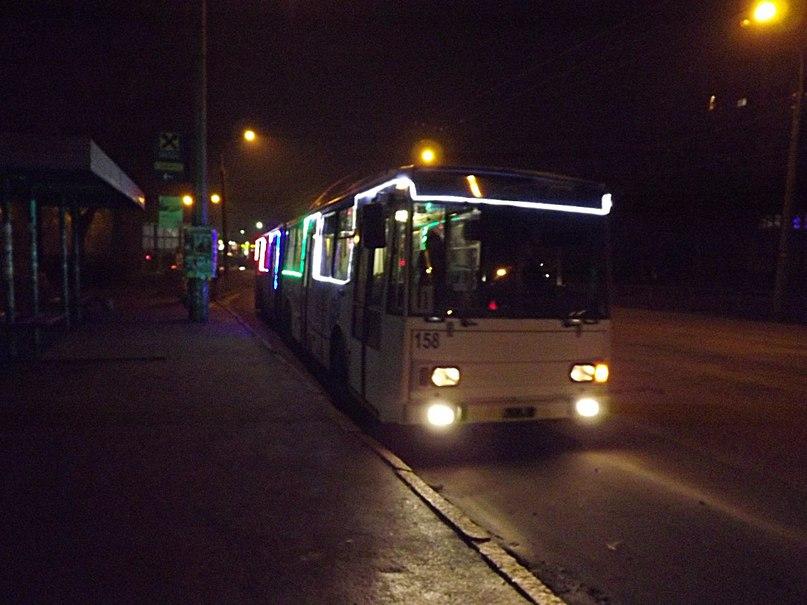 Розклад руху тролейбусів у новорічну ніч