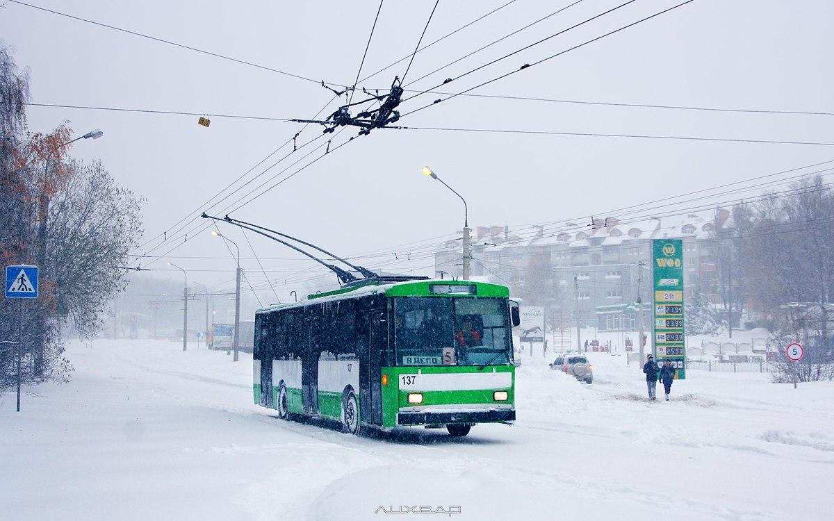 Щодня на маршрутну мережу виходять до 45 тролейбусів