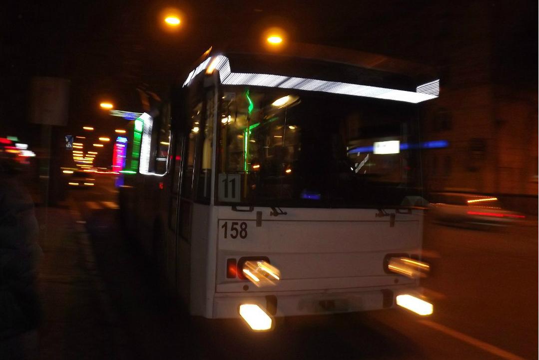Графік руху тролейбусів у новорічну ніч 2016-2017