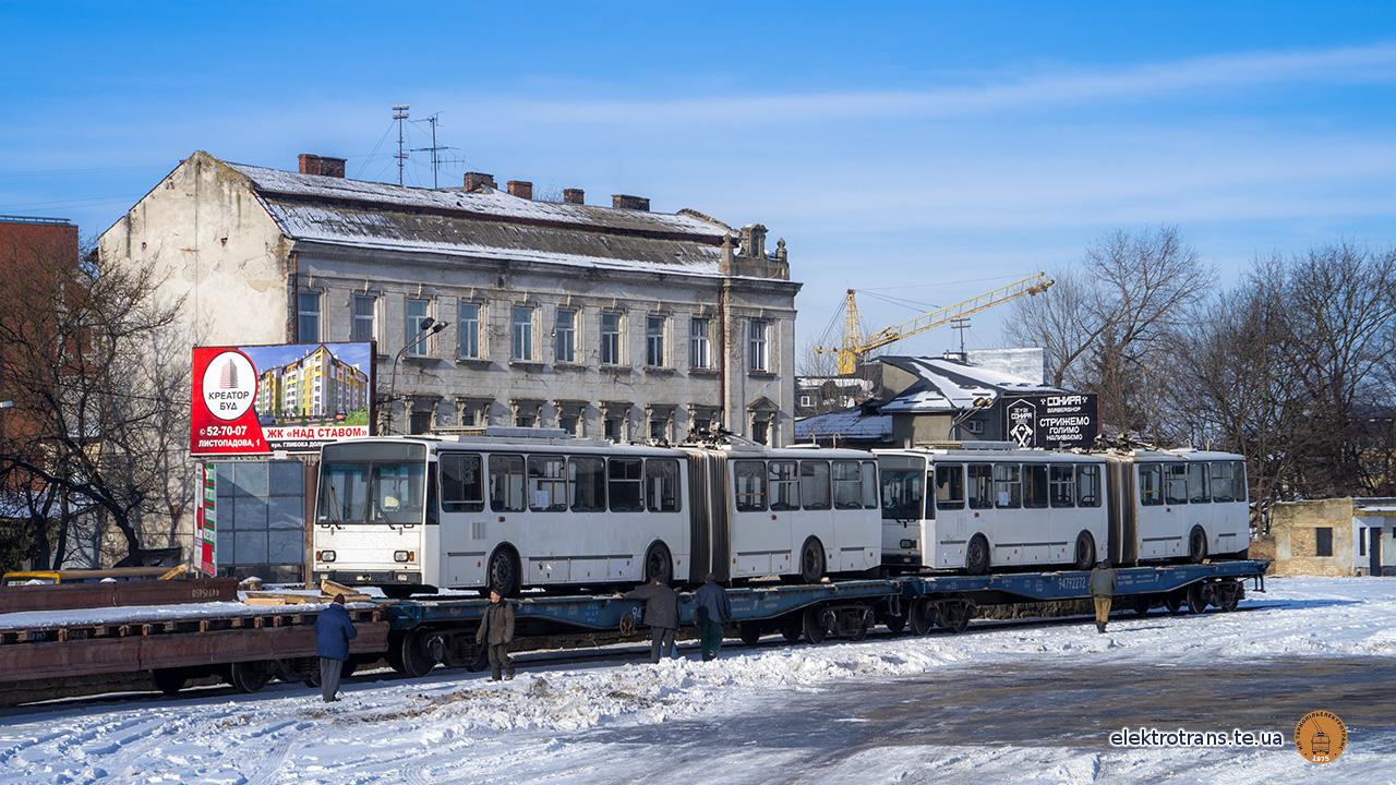 Два тролейбуси прибули до Тернополя