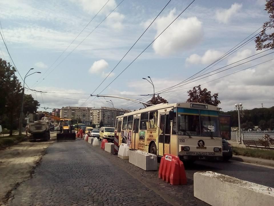 Увага: тролейбуси поїдуть через центр!